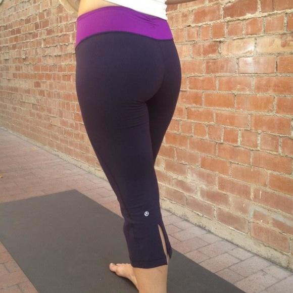 e6a21cc24aaf9 lululemon athletica Pants | Lululemon Gather Crop Herringbone Waist ...